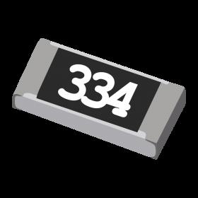 Resistor 330kΩ 5% 1/4W SMD 1206