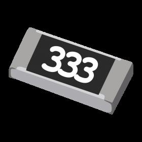 Resistor 33kΩ 5% 1/4W SMD 1206
