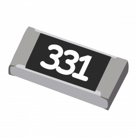 Resistor 330Ω 5% 1/4W SMD 1206 330R