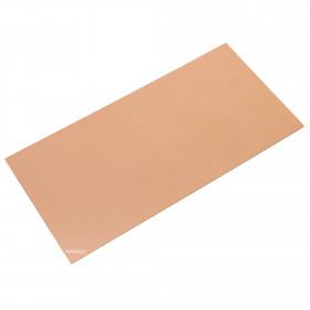 Placa Virgem de Fibra de Vidro Face Simples 5x10cm