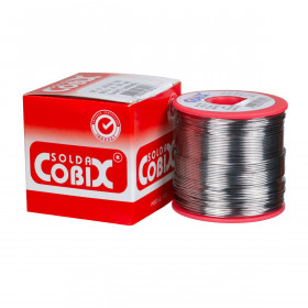 Solda Estanho Cobix SnPb 63x37 0,8mm Fluxo RA Carretel 500g