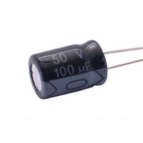 Capacitor Eletrolítico 100μF 100uF 50V 105°C 8x12mm