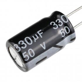Capacitor Eletrolítico 330μF 330uF 50V 105ºC 10x17mm