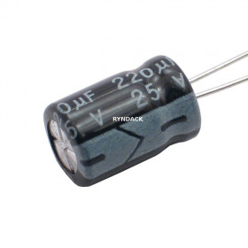 Capacitor Eletrolítico 220μF 220uF 25V 105ºC 8x12mm