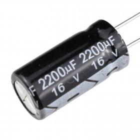Capacitor Eletrolítico 2200μF 2200uF 16V 105ºC 10x20mm