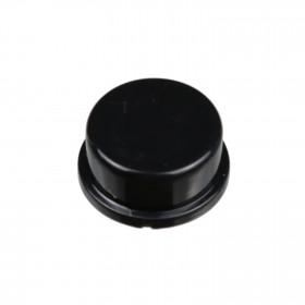Botão Redondo Preto para Chave Tactil 12x12x7,3mm