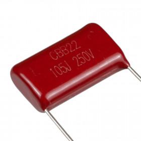 Capacitor Poliéster Metalizado 1μF 250V 1uF 1u