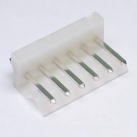 Conector 6 Vias KK 3,96mm Macho 180° KKzão