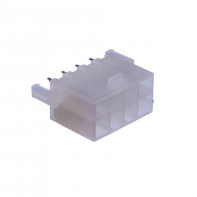 Conector Header Fêmea Mini Fit 8 Vias 4,20mm com Peg 180°