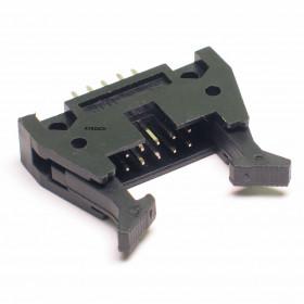 Conector Header 10 vias 180º com Ejetor
