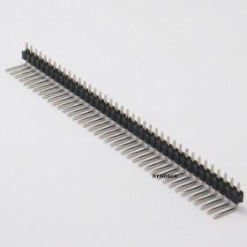 Barra de Pinos 1x40 14,5mm Passo 2,54mm 90°