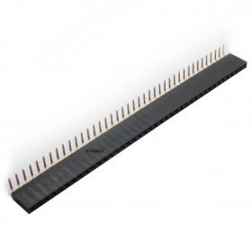 Barra de Pinos Fêmea 1x40 Passo 2,54mm (MCI) 90°