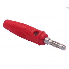 Pino Banana PB181 Vermelho 4mm com Mola e Capa Flexível 15A