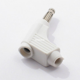 Pino Banana 110° D118 Branco 4mm com Mola Derivação e Capa Flexível 15A