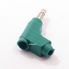 Pino Banana 110° D118 Verde 4mm com Mola Derivação e Capa Flexível 15A