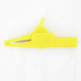 Garra de Jacaré GJ50 Amarela para Pino Banana 83,5mm 32A